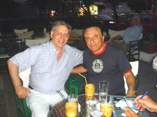 Spyros Peter Goudas and Raimondos Papamanolis  in Kalamaki Jun 2005